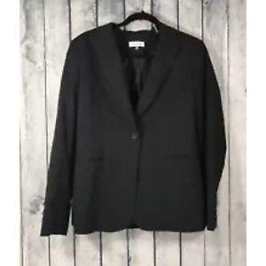 Calvin Klein Black Striped One Button Jacket